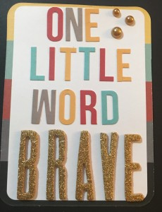 2016 One Little Word